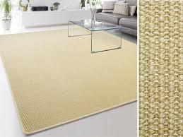 sisal teppich sylt ivory gekettelt eckig oder rund