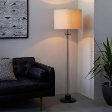 Jc Penneys Floor Lamps by Acrylic Column Floor Lamp In Antique Brass