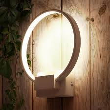 post modern led ring l luminaire bedside balcony aisle indoor
