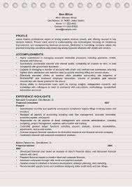 Finance Resume Examples 2016 4 Professional Ms Word Doc Format Financial Sample 2