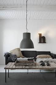ikea industrial pendant with large black shade founterior