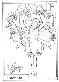 Flower Fairy Coloring Pages Fairies Flying The Best Ideas On