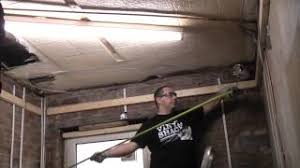 Ceiling Joist Spacing For Gyprock by How To Install A Stud Ceiling Youtube