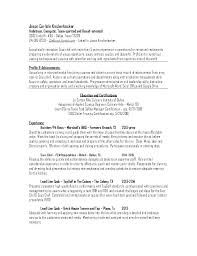 Sample Chef Resumes Examples Of Short Resume Example Order Cook