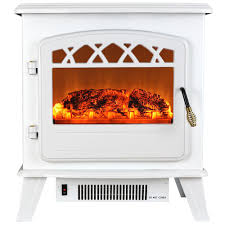 Decor Flame Infrared Electric Stove by Akdy 20 In Freestanding Electric Fireplace Stove Heater In White