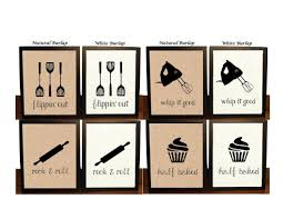 Pick 4 Kitchen Wall Decor Sign Art