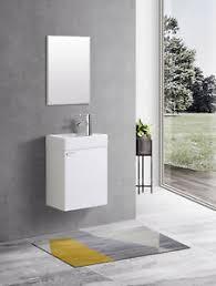 weiß waschplatz waschbecken schrank spiegel wc gäste