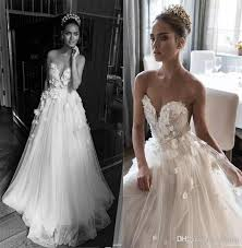 Illusion Jewel Sweetheart Embellished Ruched Bodice Wedding Dresses 2018 Elihav Sasson Bridal Gown 3D Rose Flower Floor Length Gowns