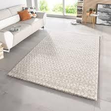 design velours teppich hochflor impress beige creme braun teppich