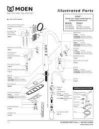 Moen Kitchen Faucet Repair Diagram Moen 87014ewbrb 87014ewc Operating Manualzz