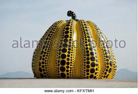 Yayoi Kusama Pumpkin Sculpture by Pumpkin U201d Art By Yayoi Kusama Naoshima Island Japan Stock Photo