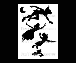 Peter Pan Pumpkin Stencils Free by Peter Pan Shadow Clipart 45