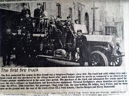 100 First Fire Truck Blue Islands First Motorized Firetruck Chicagoareafirecom
