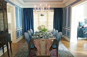 Dining Rooms Deep Navy Curtains For The Transitional Bedroom