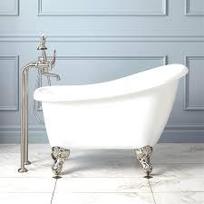Bootz Cast Iron Bathtub by Bootz Industries Aloha 5 Ft Left Hand Drain Soaking Tub In White