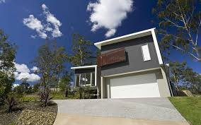 100 Block House Design Sloping S Civic Steel Architect
