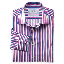 pembroke navy white and pink bold stripe business casual classic