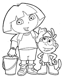 Cool Dora Color Pages Free Printable For Kids 35223 Coloring