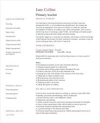 Teacher Resume Examples In PDF Primary
