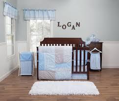 Amazon Trend Lab Logan 3 Piece Crib Bedding Set Blue Crib