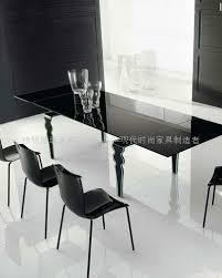 Glas Steel Glass Legs Extension Dining Table WC BT918 3