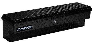 100 Truck Tool Boxes Black Diamond Plate Lund 60Inch Side Bin Box Single Lid Push Button