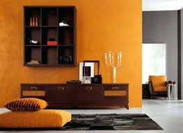 orange wall living room orange paint and furniture upholstery