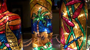 Decorative Wine Bottles With Lights by Carol Z U0027s Recycled Bottle Lites Youtube