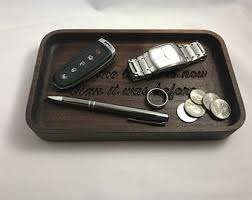Mens Wooden Dresser Valet Tray by Wood Valet Tray Etsy