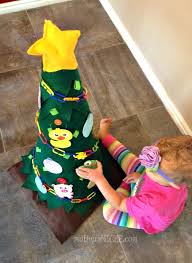 Felt Christmas Tree For Toddlers To Decorate Over And