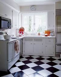 Vintage Metal Kitchen Cabinets by Easy Kitchen Redo Checkerboard Floor 1950s Kitchen And Laminate