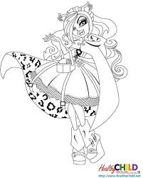 Monster High Coloring Pages Healthychild Net
