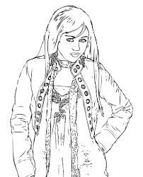 Dibujosparacoloreardisneyhannahmontana Dibujos Para Cortar Y