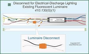 florescent light fixture disconnect