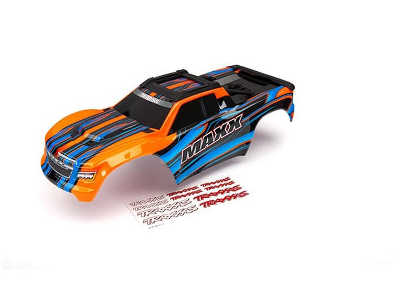Traxxas Maxx Body Orange Painted with Decal Sheet TRA8911T