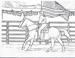Barrel Racing Horse Coloring Pages 2