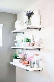 DIY Pipe Bracket Shelves And A Dining Room Tour