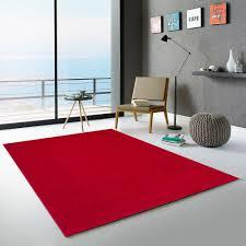 frisee antistress moderner roter teppich für wohnzimmer casacolora ccros