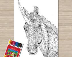 Printable Unicorn Coloring Page Adult