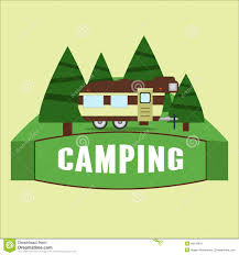RV Camping Illustration Vector