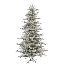 85 Pre Lit Flocked Slim Sierra Artificial Christmas Tree