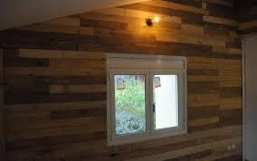 Pallet Wood Paneled Wall