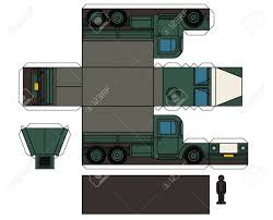 100 Paper Truck Model Of An Old Military Royalty Free Cliparts Vectors