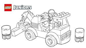 LEGOR Juniors Racetrack Tow Truck Coloring Page
