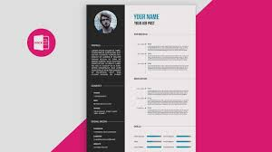CV Resume Template Design Tutorial With Microsoft Word Free PSD DOC PDF