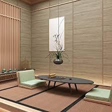 tapete nordic japanischen stil leinen holzmaserung