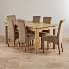 Edinburgh Natural Solid Oak Dining Set 6ft Extending Table And 6 Chairs Ebay