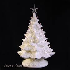 Ceramic Christmas Tree Bulbs And Stars by Winter White Ceramic Christmas Tree Clear Lights Large 18 Inch