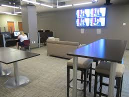 Check out our new modern work space with high tech wall screens in