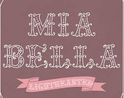 Sweet Font Mia Bella Lighthearted Hand Drawn Ornamental Roman